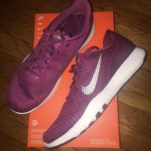 Nike Flex Trainers 7 purple tennis shoes